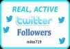 give you 1600+ Twitters Followers 100% real on your account