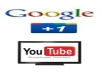give u 20 google+1 & 20 youtube likes