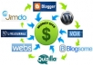 create a Google friendly link wheel using 5 web spokes and then will create few THOUSANDS blog backlinks to them for