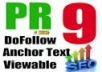 make you 20 PR9 backlinks, extreme authority, contextual and very powerful PR 9 links @!@