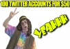 PROVIDE you 100 twitter accounts