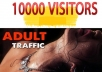 send 10,000 adult visitors,high Quality traffic to your website