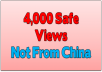 provide 4,000 non-china adsense safe website views and hits
