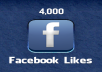 4000+ High Quality Real, Active Facebook Likes or Fans to your facebook fan Page for 