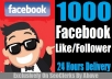 GIVE YOU 1000+ REAL FB FOLLOWER ITS SAFE AND STAY FOREVER