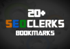 Give your SeoClerks gig 20+ bookmarks / likes