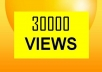 give you guaranteed 30,000 youtube views to your youtube video, all views deliver within 5 days