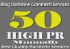 do MANUALLY 50 Highpr Blog Comment 2PR7 4PR6 10PR5 10Pr4 12Pr3 12Pr2 DoFollow Backlink