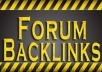 will give you 600+ Forum Backlink List (PR7 to PR9)