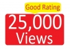 give you SAFEST 25000 to 35000 YouTube views!!!!!