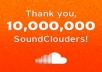 provide you 150+ high quality soundcloud followers and 100 soundcloud plays all will come from different users and ips for