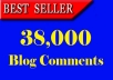 Generate 38,000 Blog comments backlinks for your website
