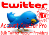 Provide 60 twitter accounts