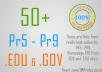 make 10 PR8 and 10 PR7 GOV and edu dofollow backlinks yes real gov and edu!!!!!