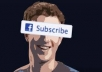give you 50 real facebook subscribes quickly with in 6 hours