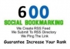  create a SEO package B have 450+ social bookmarks and 600+ high pagerank wiki backlink + rss + schedule ping 