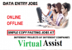 spend 3 Hours dedicatedly for Data Entry/Data Conversion/Data Typing/Excel Entry/Copy Paste