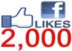 Provide 2000 Real Facebook like in your page