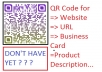 create an Awesome look QR code for Any url /Any text/ Business Card with Logo