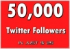instant 50,000 Twitter Followers, No Eggs, No Unfollows, without admin access