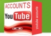  give you 40 accounts PVA youtube or gmail verified by phone 