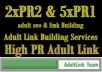 sale very cheapest and high quality adult link building services on 2xPR2 and 5xPR1 adult backlink