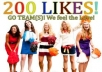 provide you   225   plus real facebook &quot; likes or subscribers&quot; with in  12  hours ...,,.