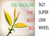 create 10 Quality EDU BackLink And Ping Over 80 Site
