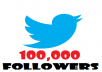 give you 100,000+ PERMANENT Twitter Followers