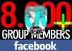 submit website/advertise/post in my facebook group (8.000 members)