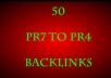 give 50 Pr7 to Pr4 Backlink With Keywords as anchor text for any website or url These are High PR Profile for your linkbuilding!!!!!