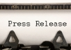 write a Professional Press Release 400 to 450 Words in 24 Hours @!