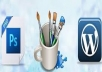 Convert HTML to Wordpress or Psd to wordpress just 