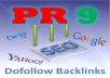 manually create 8 PR-8 & PR9 backlinks with relevant content