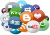 submit your site on 40 social bookmarking / social media websites through 40 REAL people