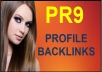 create 10 Backlinks from PR9 Sites for