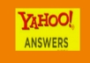 GIVE YOU 10 QUALITY ANSWERS FROM LEVEL 2 OR UPPER LEVEL YAHOO ANSWER ACCOUNT