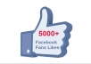 Give u 5000+ Real nd Stayng High Quality facebook likes.!