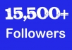 instant 15,000 Twitter Followers, No Eggs, No Unfollows, without admin access
