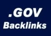 make for you Dofollow GOV backlinks 1xPR7 5xPR6 5xPR5 5xPR4 24xPR0 to 3 all with page PR for 