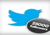 Boost Your Twitter Follower Count with 25,000+ more High Quality Twitter Followers