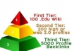 create an awesome seo PYRAMID which includes edu wikis high page rank web profiles and 5000 xrumer profile backlinks