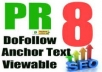create 12 REAL Angela Links from PR8 2,0 Authority Sites®, Dofollow, AnchorText, Viewable, Verified, Panda Update Friendly