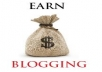 Create your blog and link it to your social media accounts