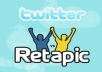 tweet 25 different positive TWEETS from Real different accounts on your websites/twitter account for