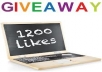 give you 1200 Facebook likes OR 8000 Twitter followers