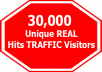 Offer  3000 VISITORS PER DAYFOR 10 DAYS only
