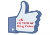 Give You 1,000 Facebook Website Or Blog Likes Within 12-Hours