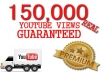 give you 150,000 youtube views to your youtube video, all views within 3 days