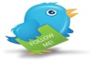 give you 550+ twitter followers,100% real and active use